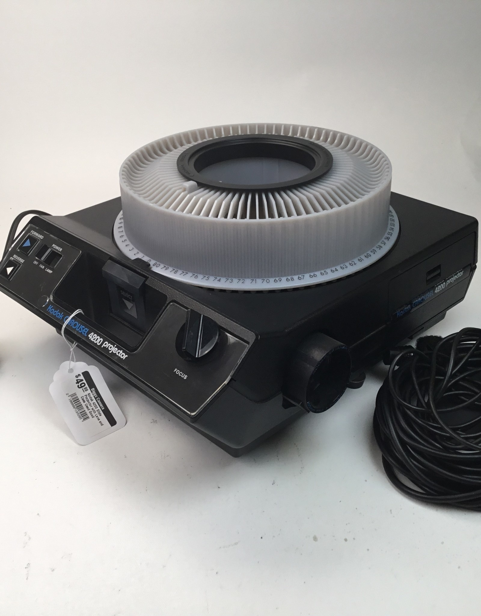 Kodak 4200 Slide Projector with Lens and Case Used Good