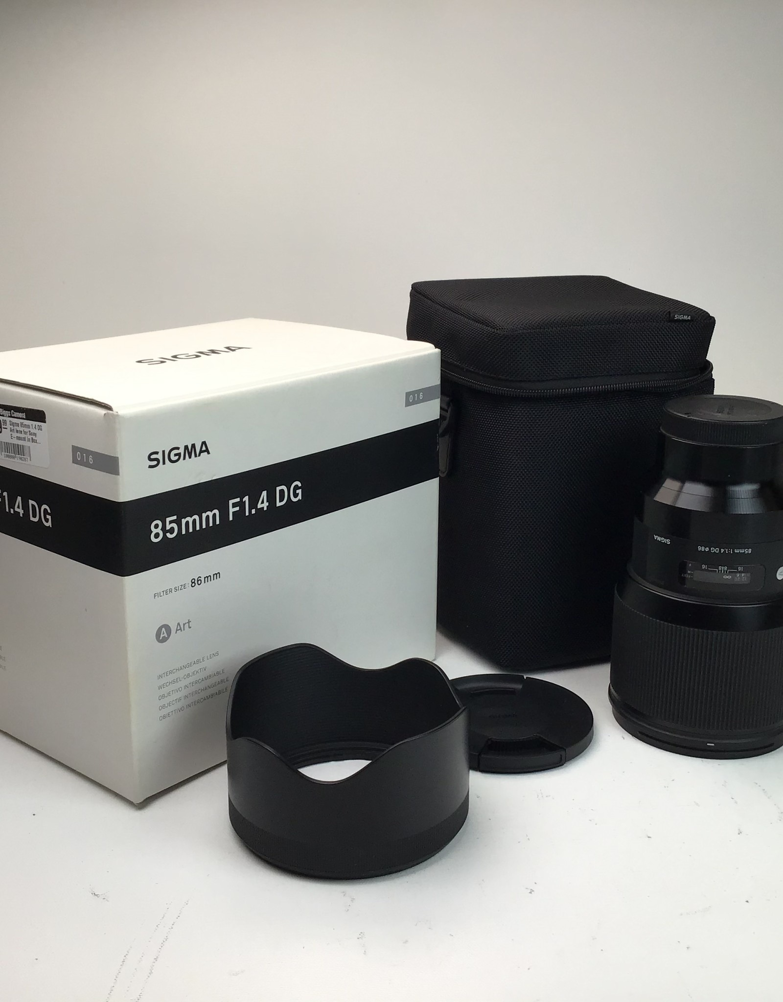 SIGMA Sigma 85mm 1.4 DG Art lens for Sony E-mount In Box Used EX