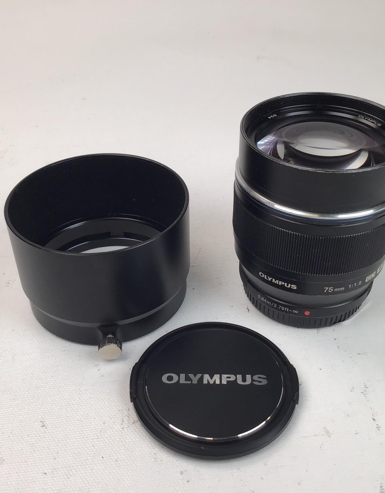 OLYMPUS Olympus 75mm f1.8 MFT Lens Used Fair