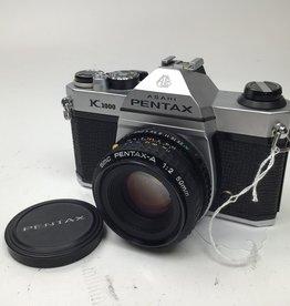 Pentax Pentax K1000 Camera with 50mm f2 Used Good