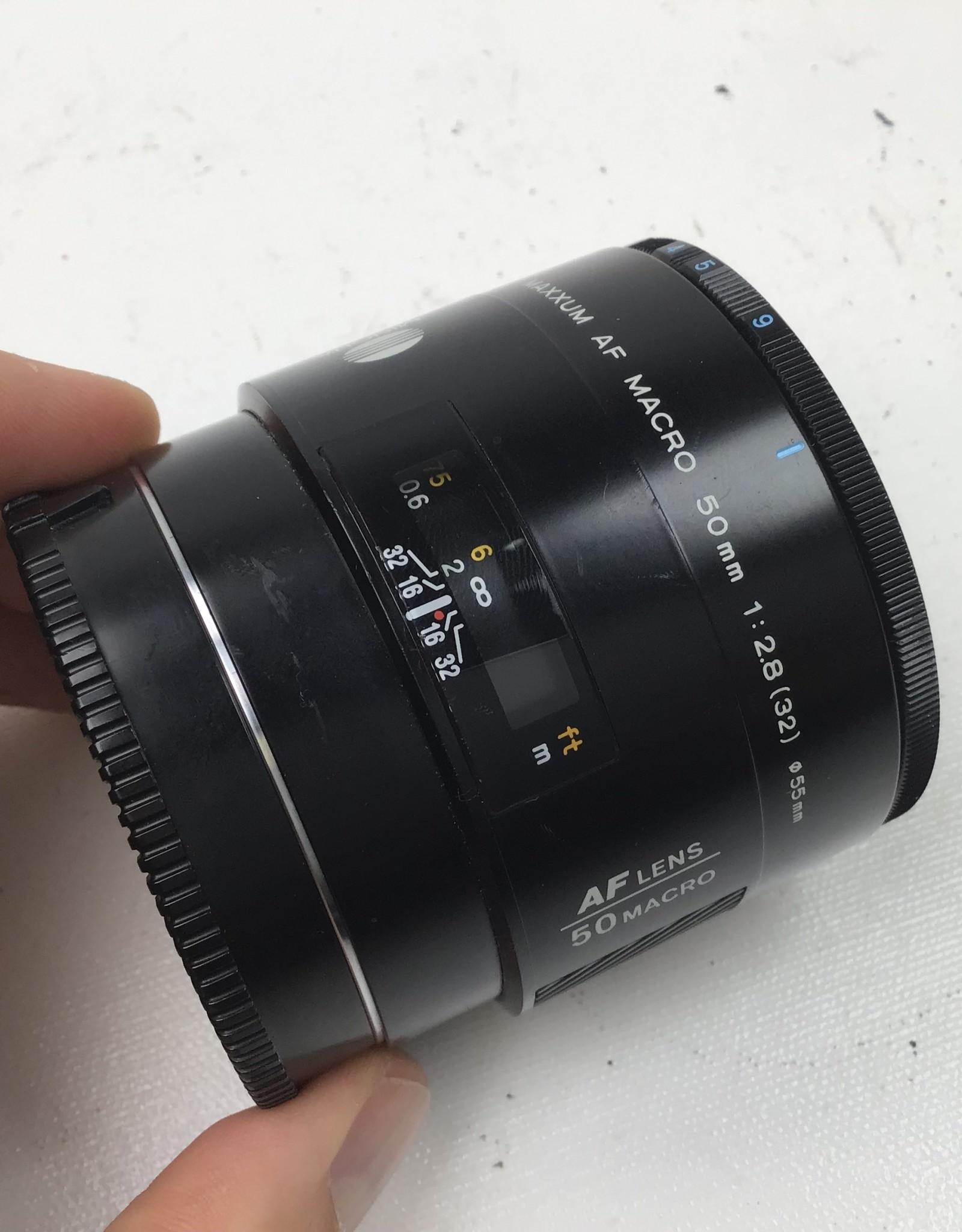 Minolta Minolta Maxxum AF Macro 50mm f2.8 Lens Used Good