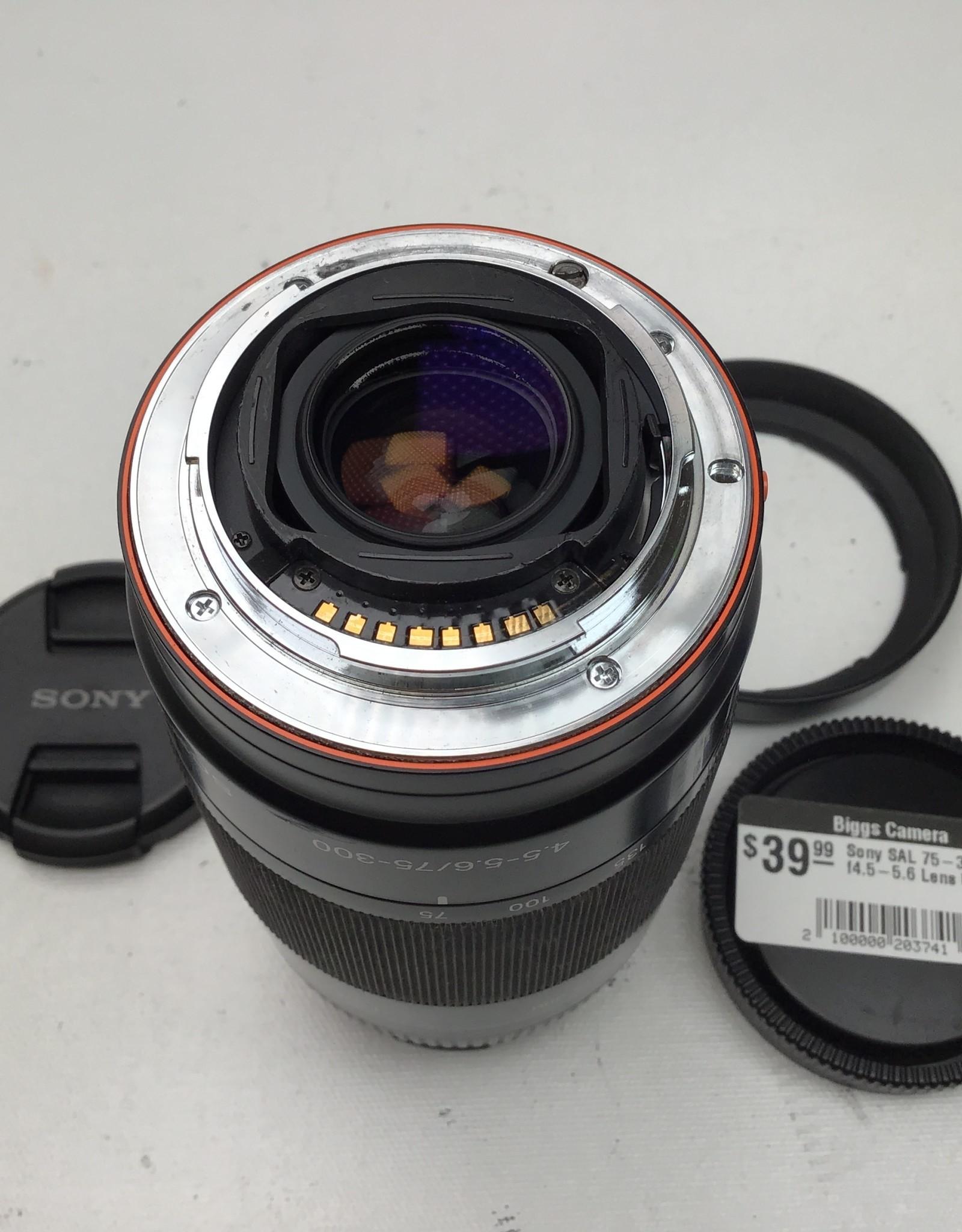 SONY Sony SAL 75-300mm f4.5-5.6 Lens Used Ugly