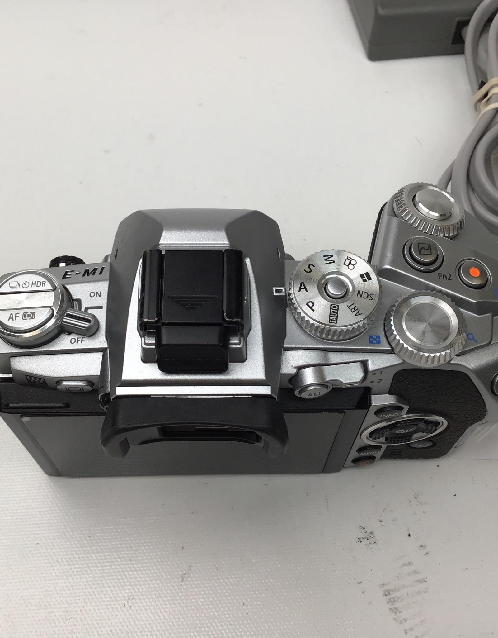 OLYMPUS Olympus OM-D E-M1 Silver Camera Body Used Good