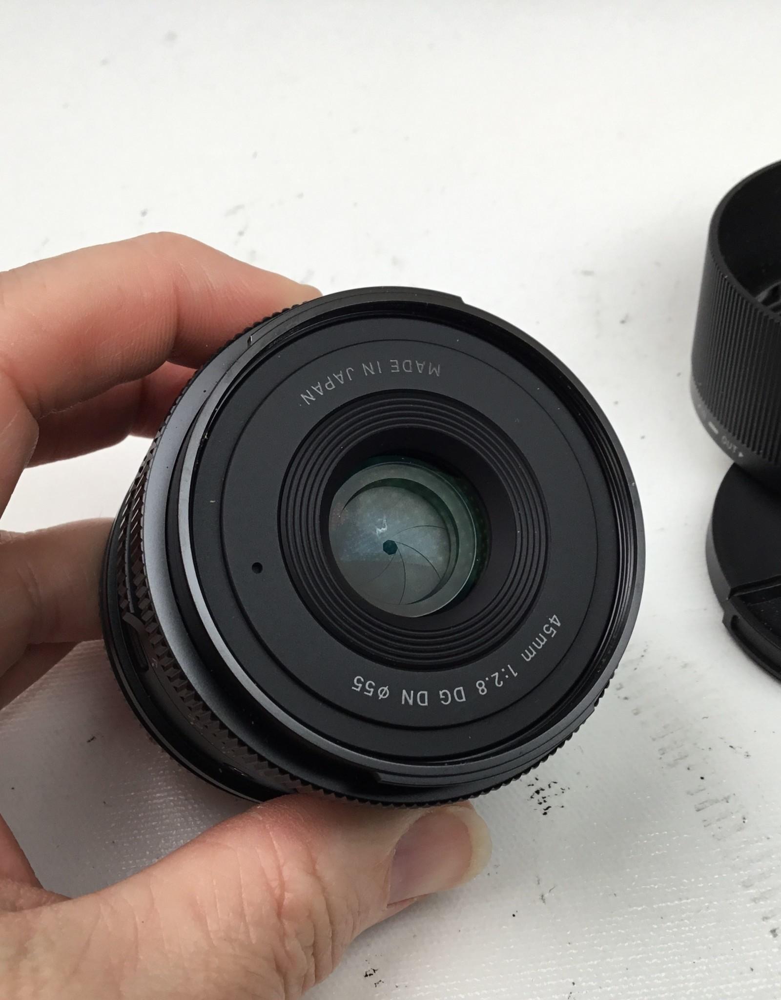 SIGMA Sigma DG DN 45mm f2.8 L Mount Lens Used EX