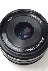 OLYMPUS Olympus M.Zuiko 17mm f1.8 MFT Lens Used Good