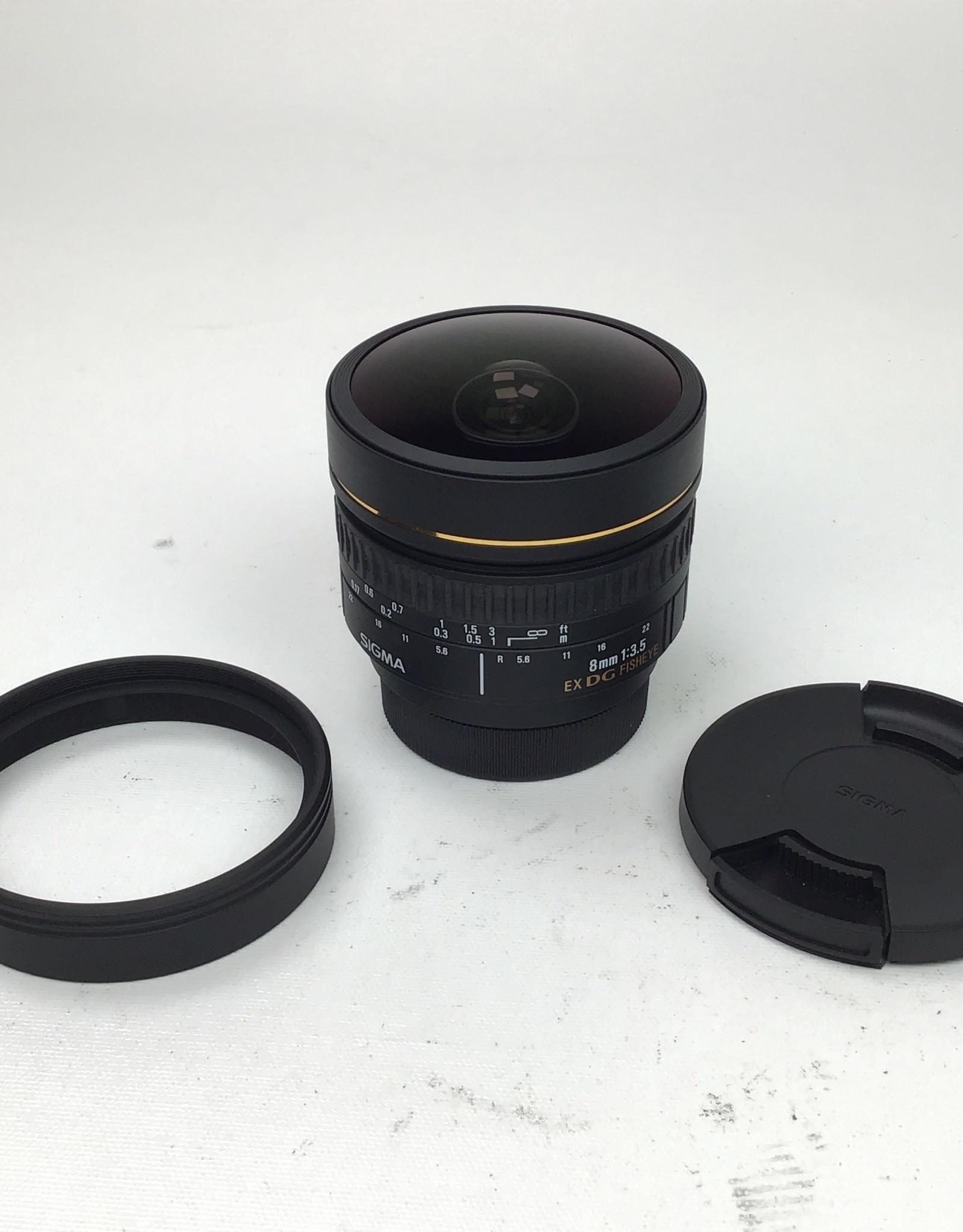 NIKON Sigma 8mm f3.5 EX DG Fisheye Lens Used EX