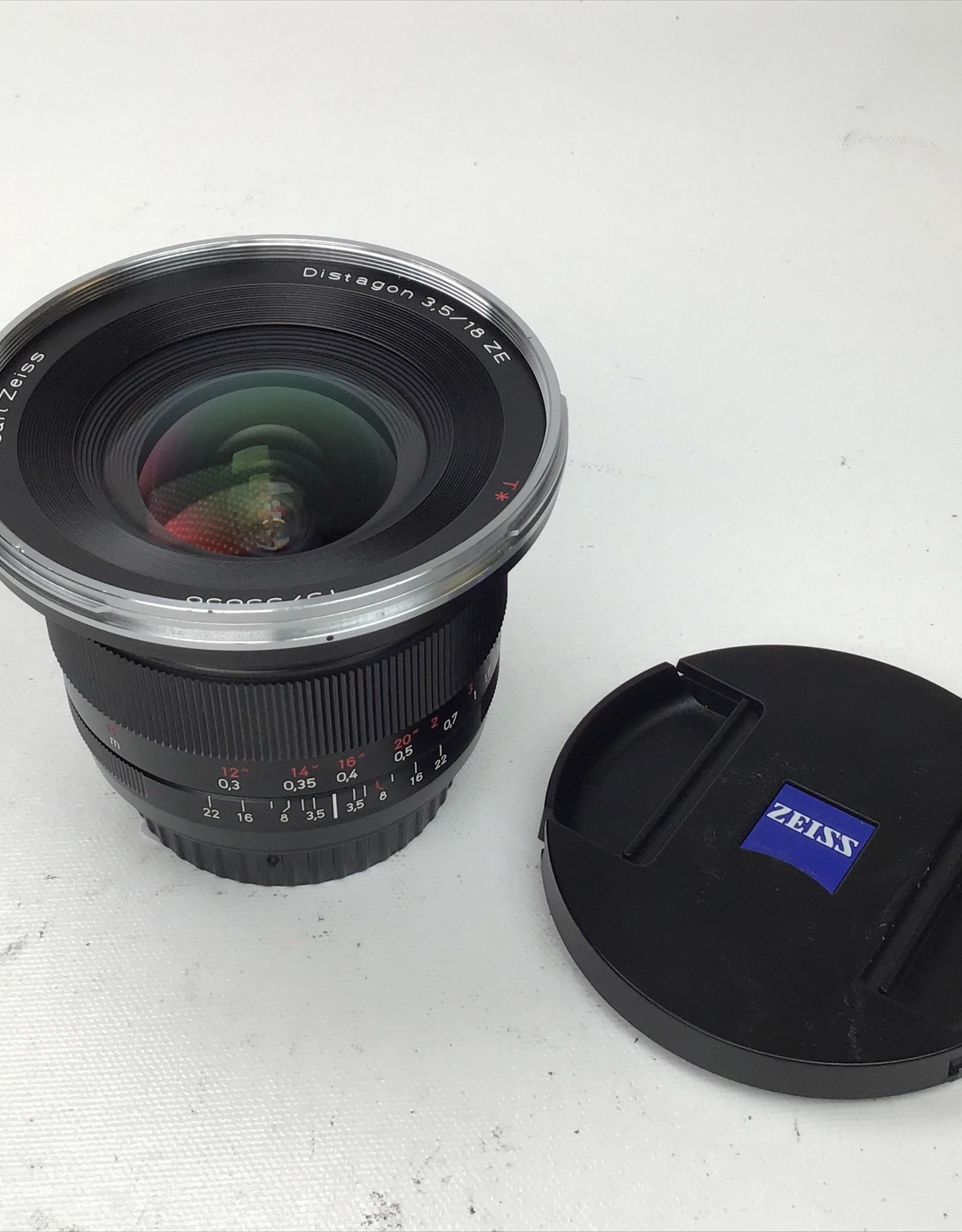 ZEISS Zeiss Distagon 18mm f3.5 ZE Lens Used Good