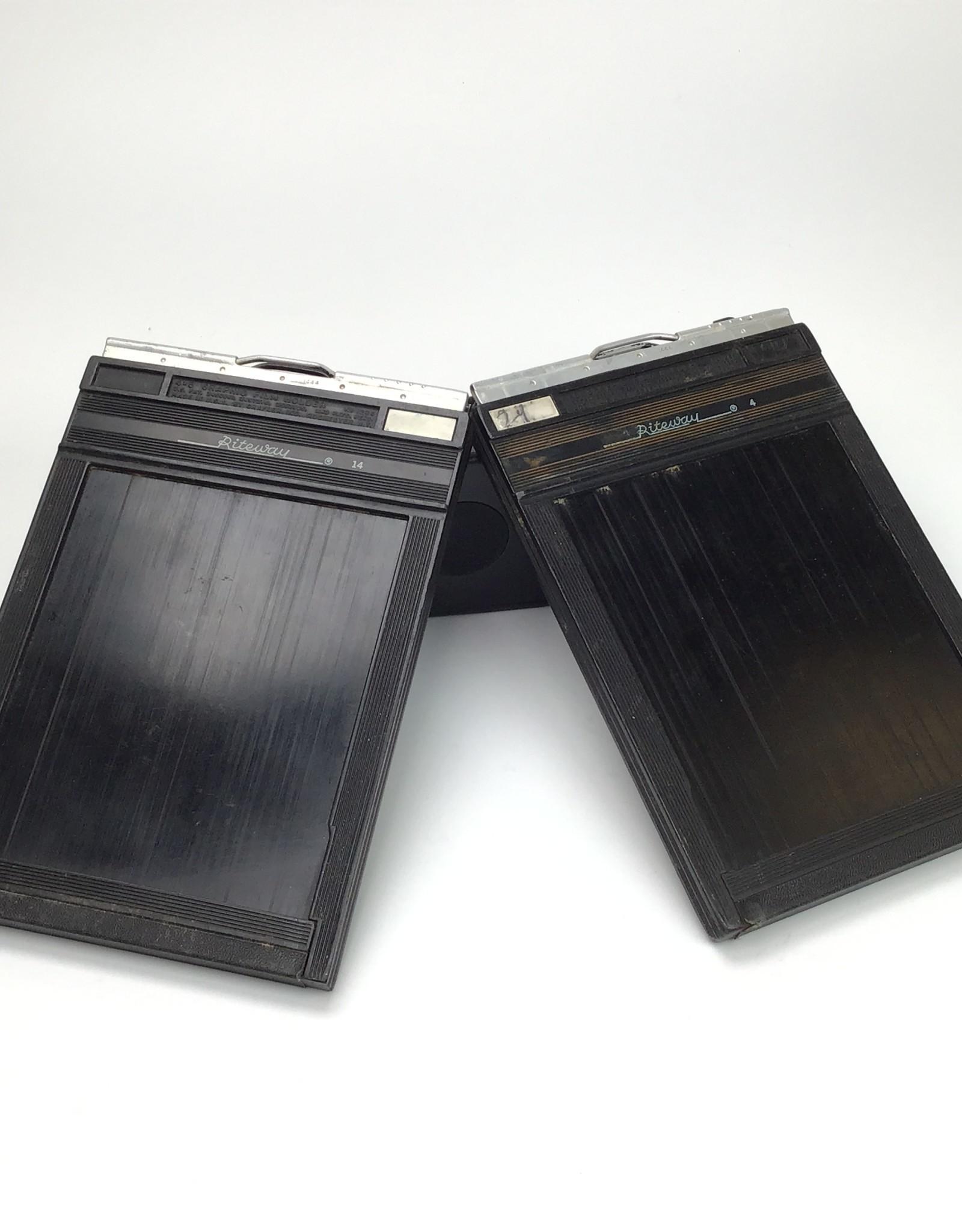 Pair of Riteway 4x5 Film Holders Used Fair