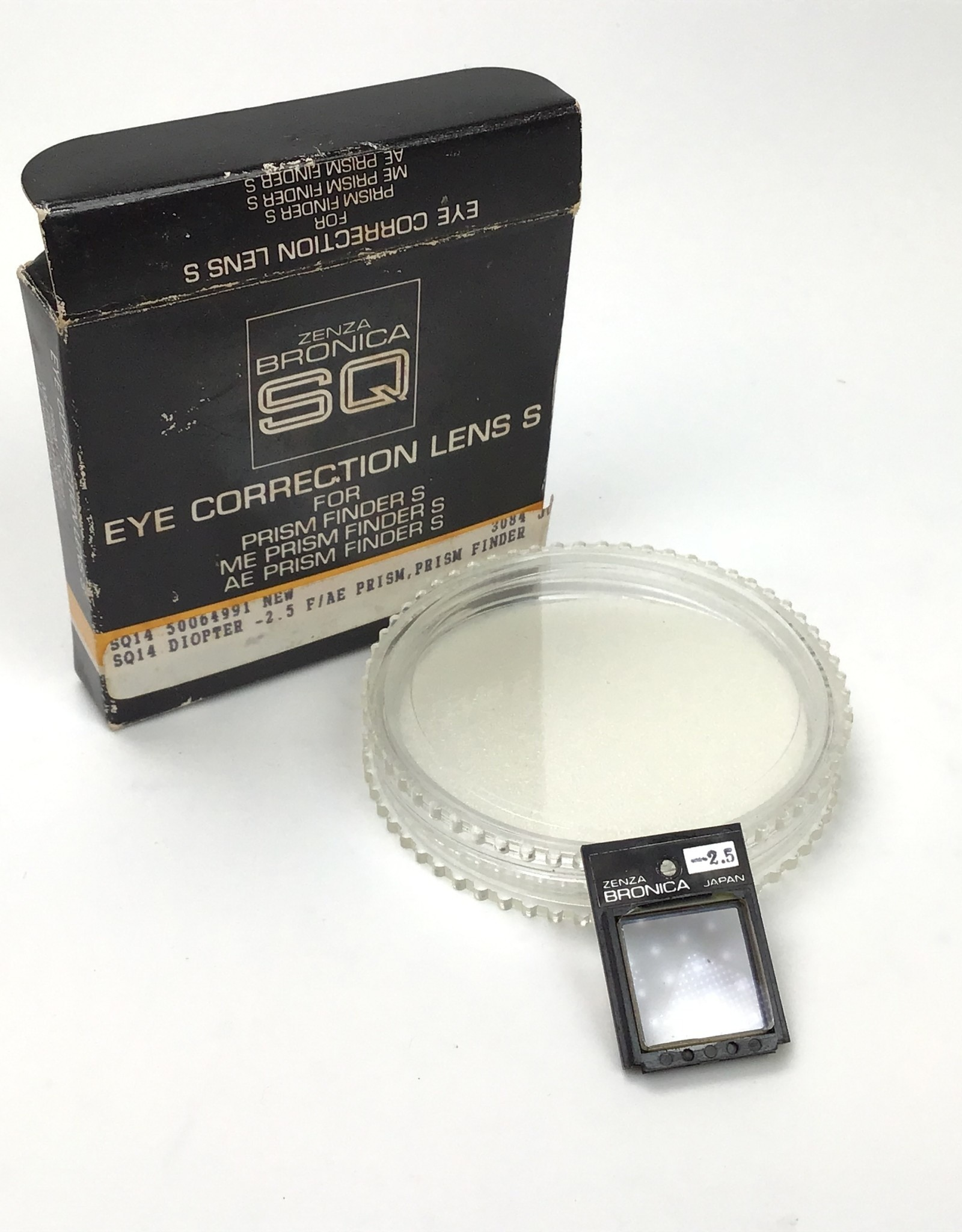 Bronica Bronica Eye Correction Lens S -2.5 In Box Used EX