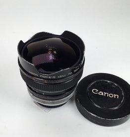 CANON Canon FD 15mm f2.8 SSC Fisheye Lens Used BGN