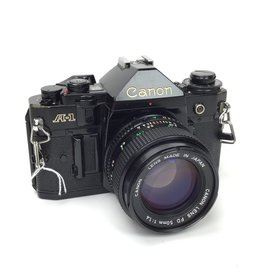 CANON Canon A-1 Camera with 50mm f1.4 Lens Used Good