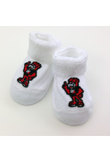 Baby Booties with Eddie the Eagle (White)