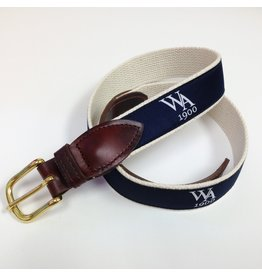 Belt - WA Navy Ribbon & Canvas