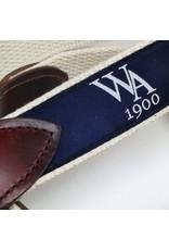 Belt - WA Navy Ribbon & Canvas