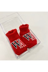 Creative Knitwear Baby Booties with WA (Red)