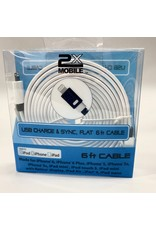 2X MOBILE USB Charge & Sync Cable (6ft)