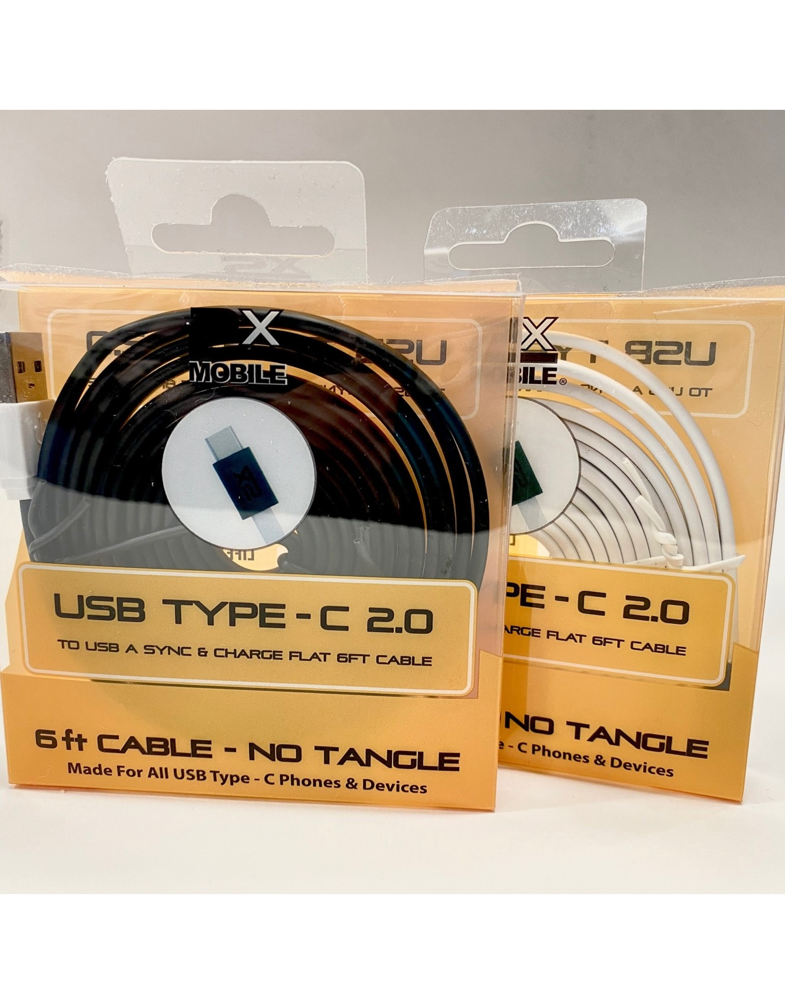 2X MOBILE USB Type C 2.0 Cable