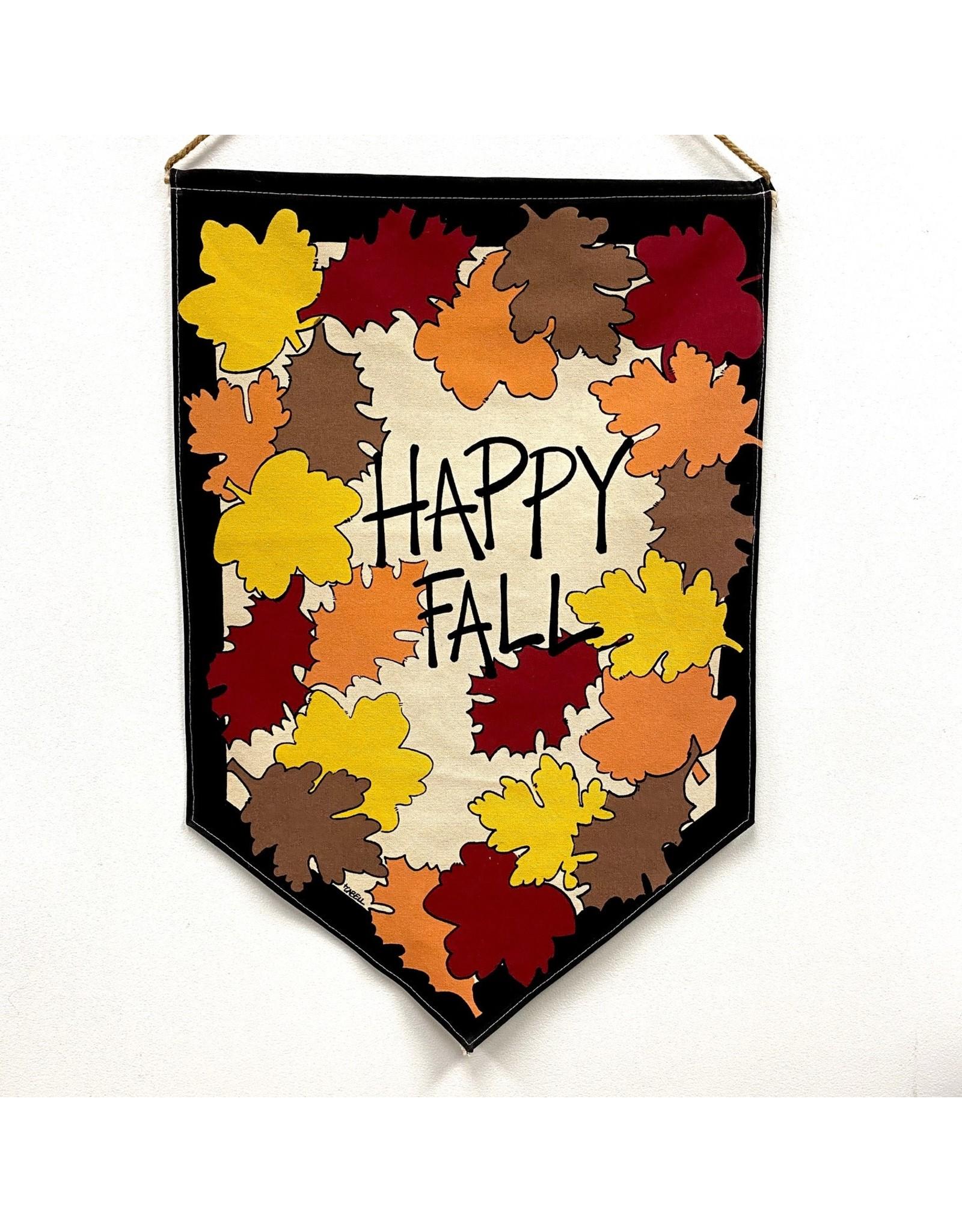 "Magnolia Lane Banner - ""Happy Fall"" Flag/Door Hanger by Magnolia Lane"