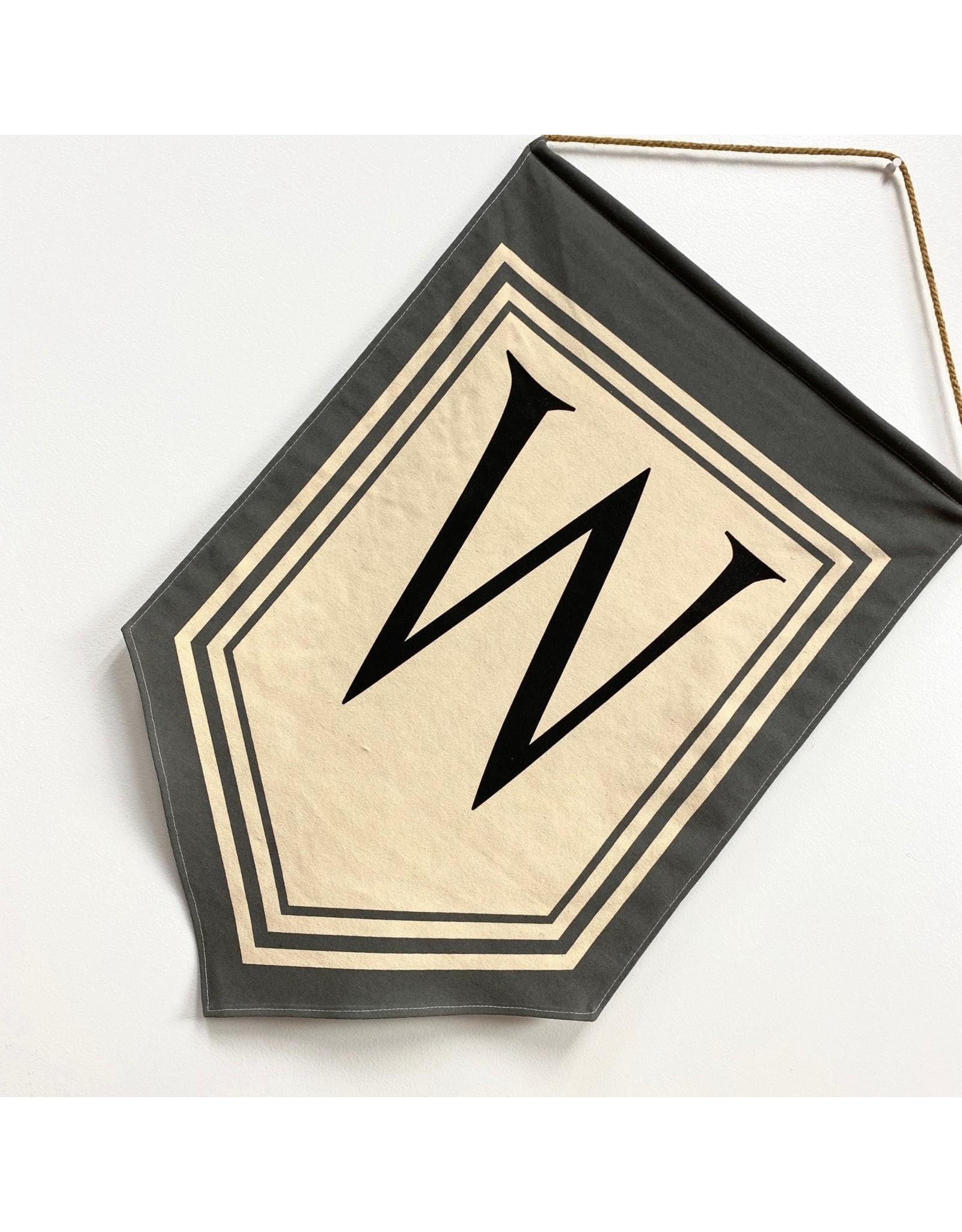 "Magnolia Lane Banner - ""W"" Flag/Door Hanger by Magnolia Lane"