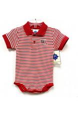 Creative Knitwear Baby Striped Polo Bodysuit by Creative Knitwear
