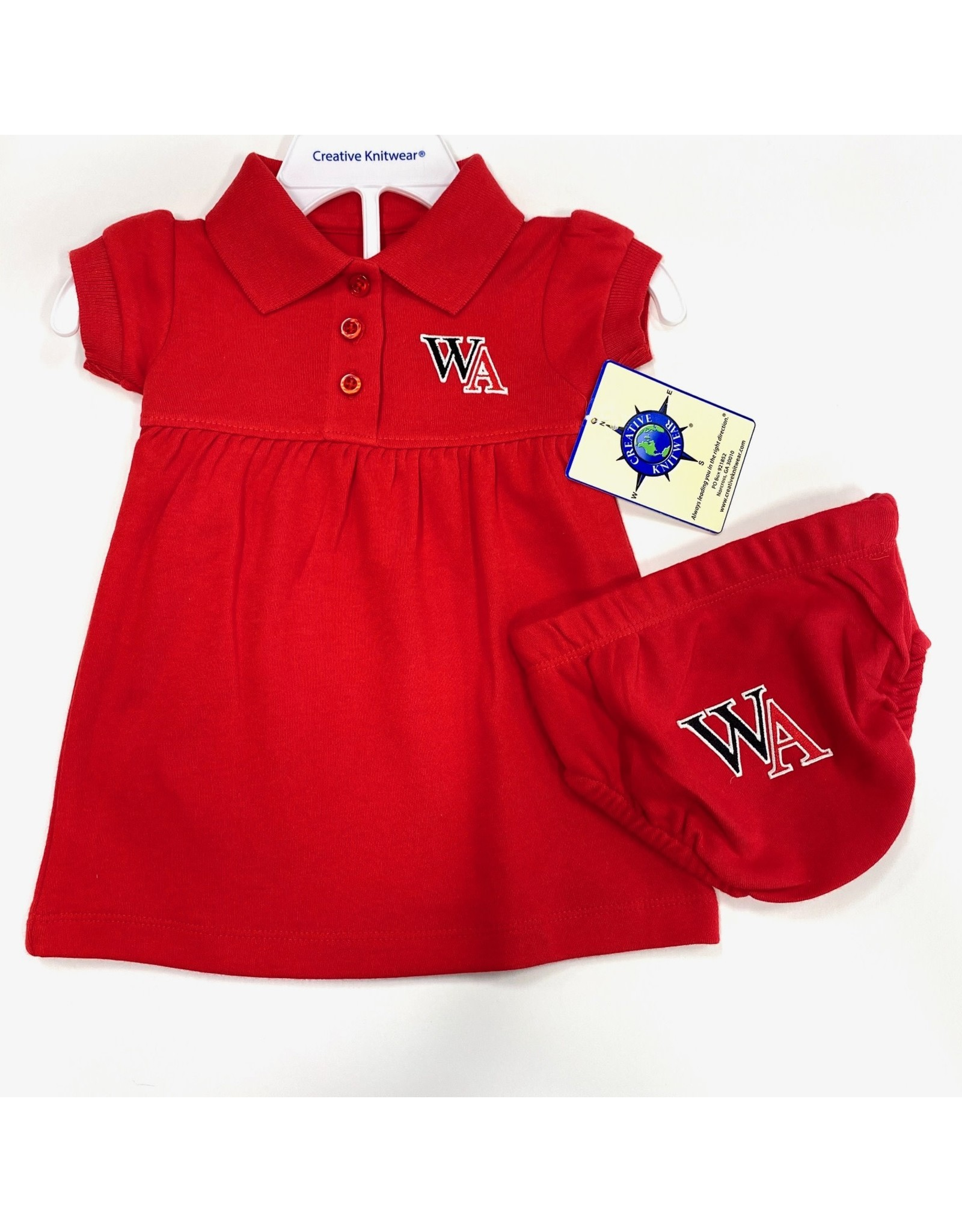 Creative Knitwear Baby Polo Dress with Bloomer by Creative Knitwear