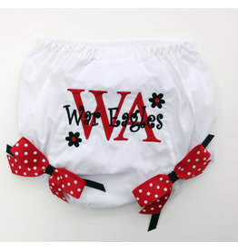 Handmade Vendor Baby Diaper Cover with Bows and Embroidery