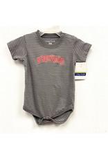 College Kids Baby Onesie - Woodward Grey Stripe
