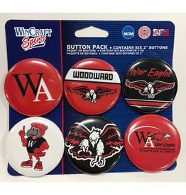 WinCraft Buttons (6-Pack)