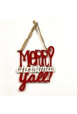 Mud Pie MP MERRY CHRISTMAS YALL DOOR HANGER