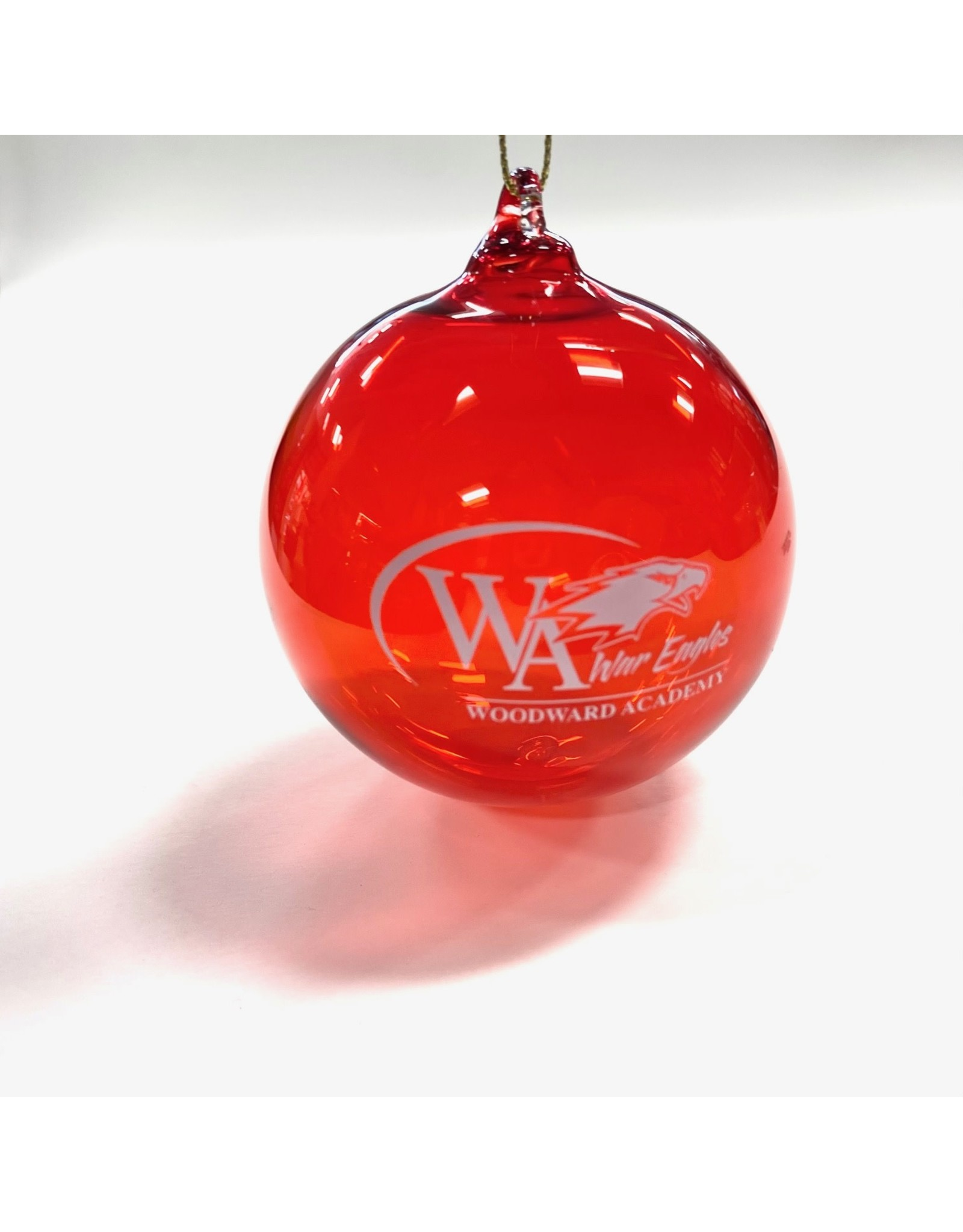 ORNAMENT HAND BLOWN RED GLASS