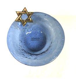 Mud Pie Blue Glass Hanukah Bowl