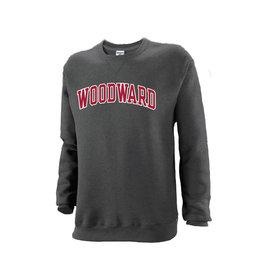 Gildan Jerzees Fleece Crew Sweatshirt in Dark Grey