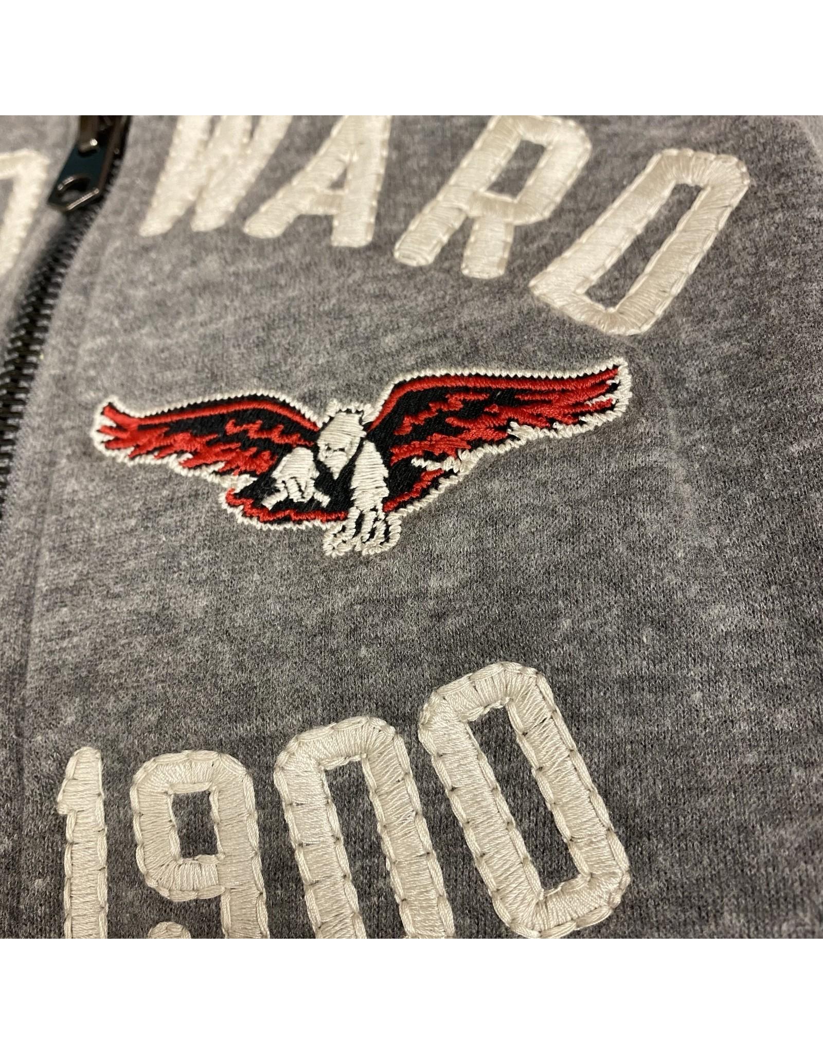 Campus Crew Full Zip Embroidered 2-color Sweatshirt
