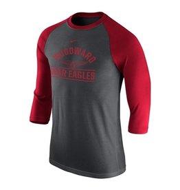 NIKE Raglan Tri-Blend 3/4 Sleeve T Shirt (2 Colors)