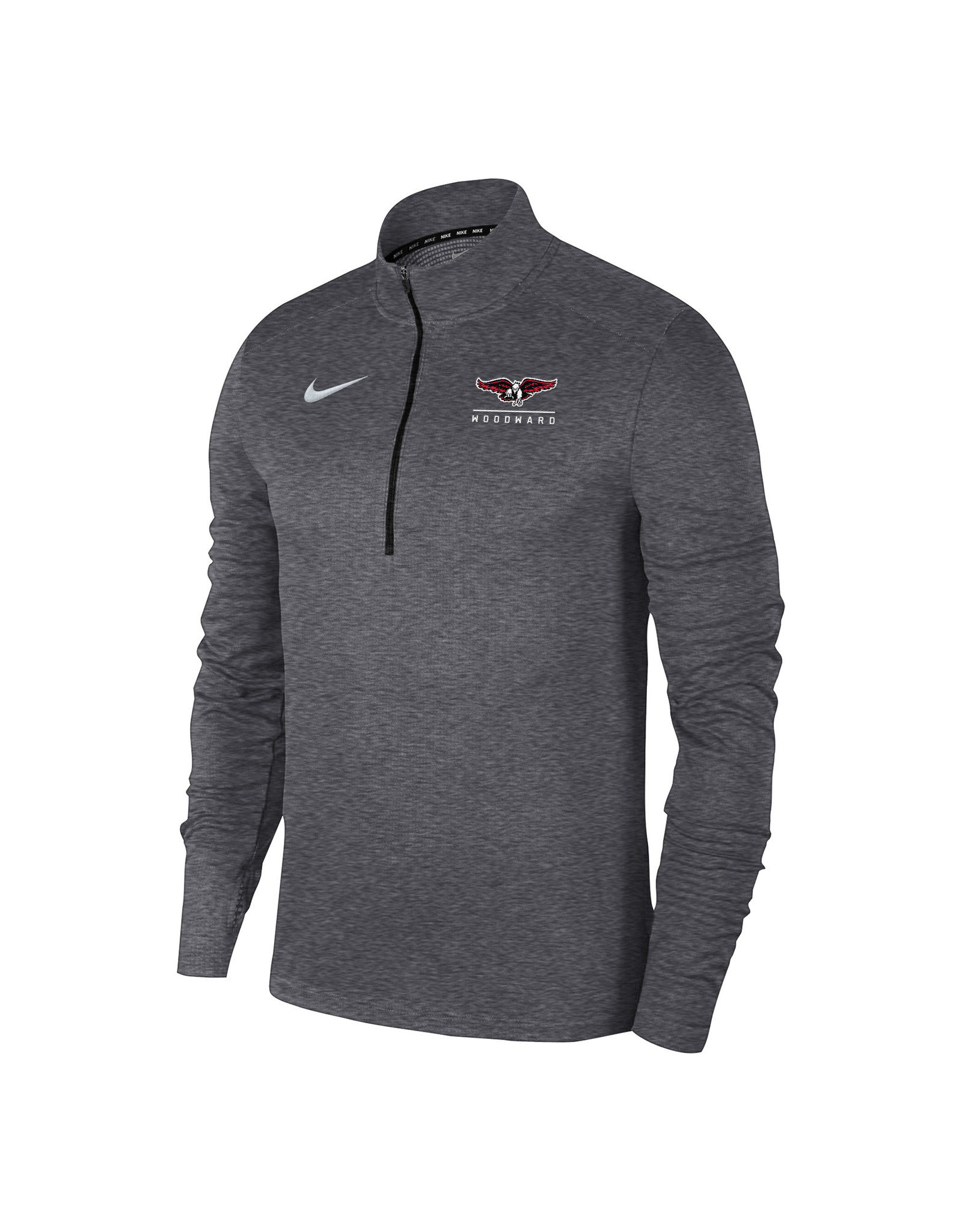 NIKE Pacer 1/4 Zip Pullover in Carbon Heather