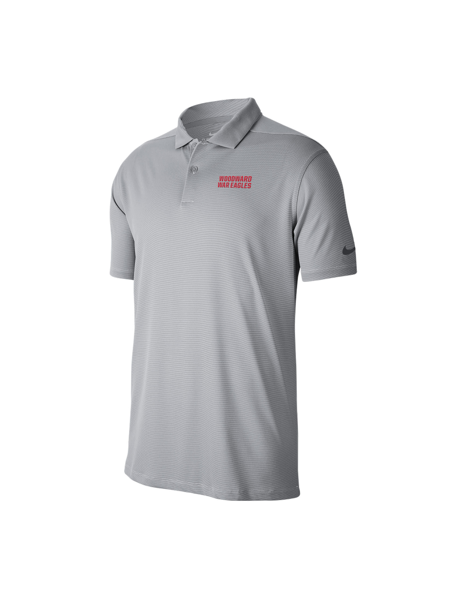 NIKE Victory Texture SS Polo in Wolf Grey