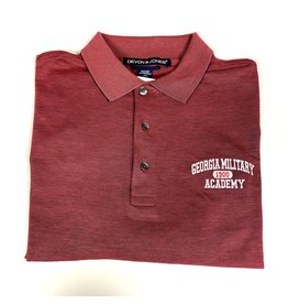 GMA SS Polo in Burgundy