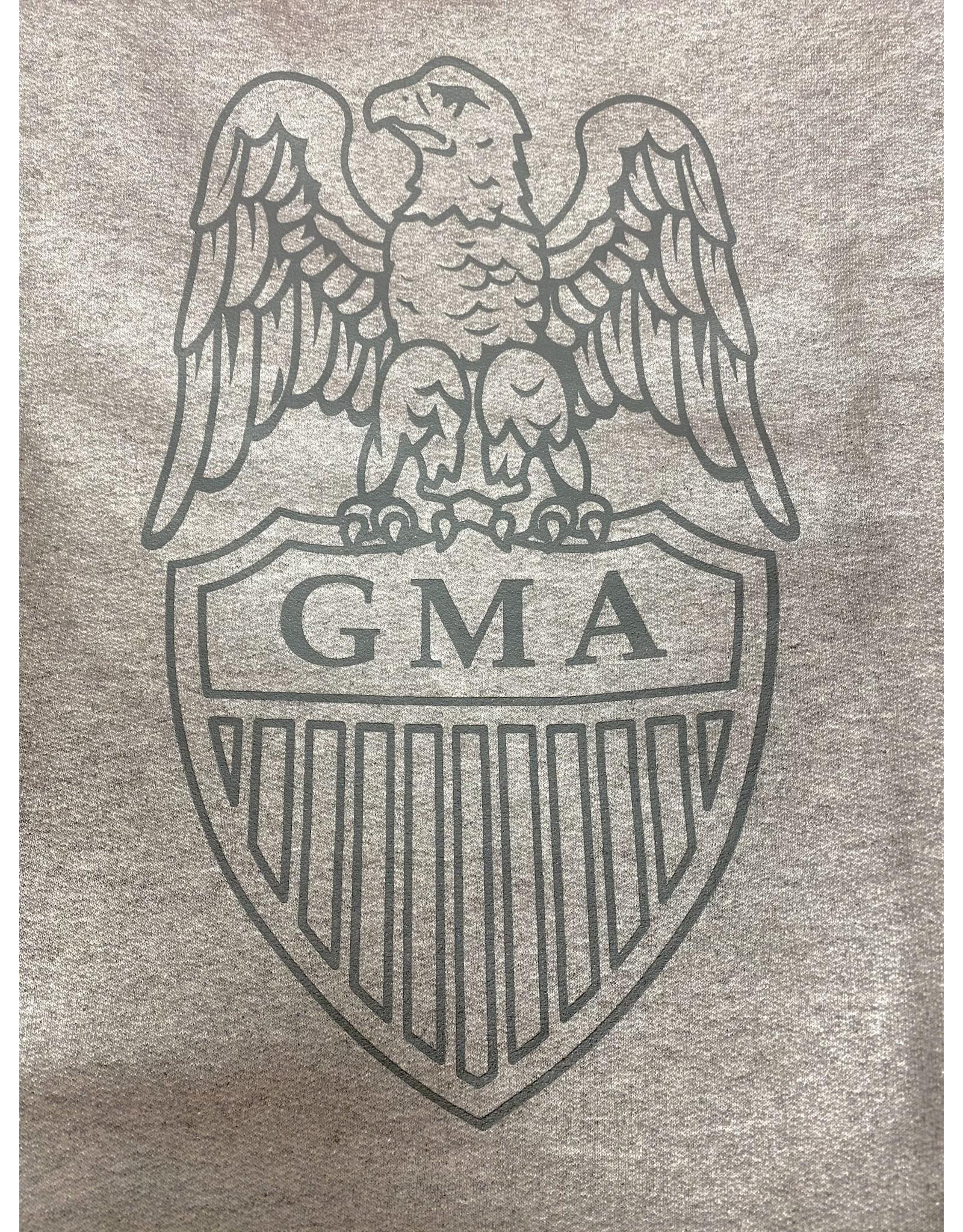 GMA  Shield Crew Sweatshirt in Oxford Grey