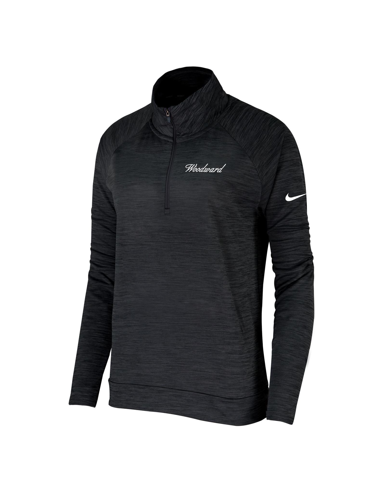 NIKE Ladies Dri-Fit Pacer 1/4 Zip Pullover in Black by NIKE