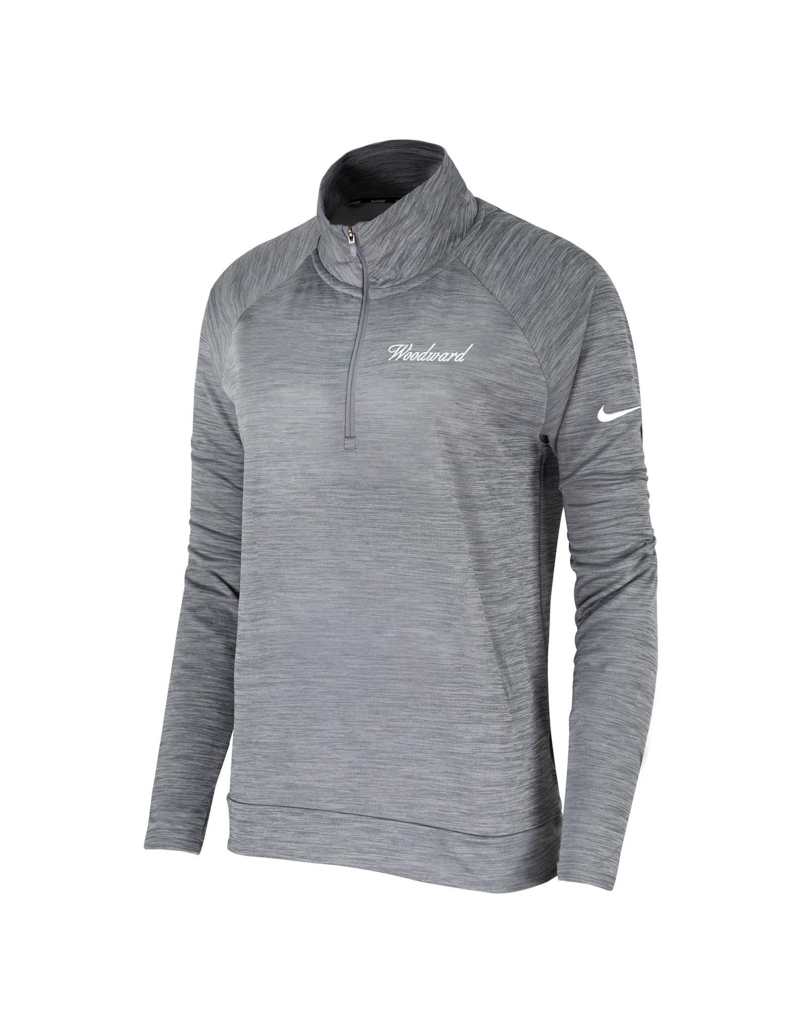 NIKE Ladies Dri-Fit Pacer 1/4 Zip Pullover in Grey by NIKE
