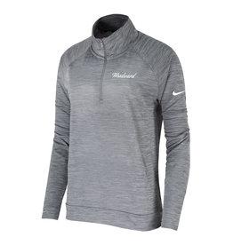 NIKE Ladies Dri-Fit Pacer 1/4 Zip Pullover in Grey