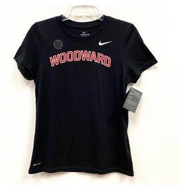 NIKE Ladies Dri-Fit Cotton SS T Shirt in Black