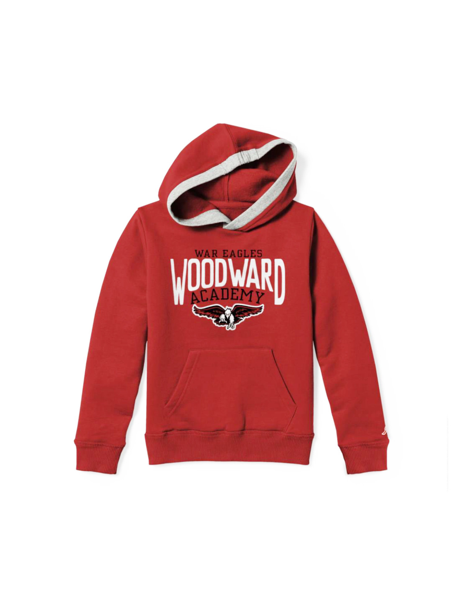 League Youth Cotton Blend Hooded Sweatshirt in Red by League