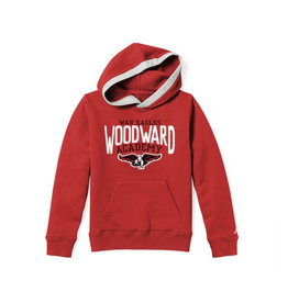 League Youth Cotton Blend Hooded Sweatshirt in Red