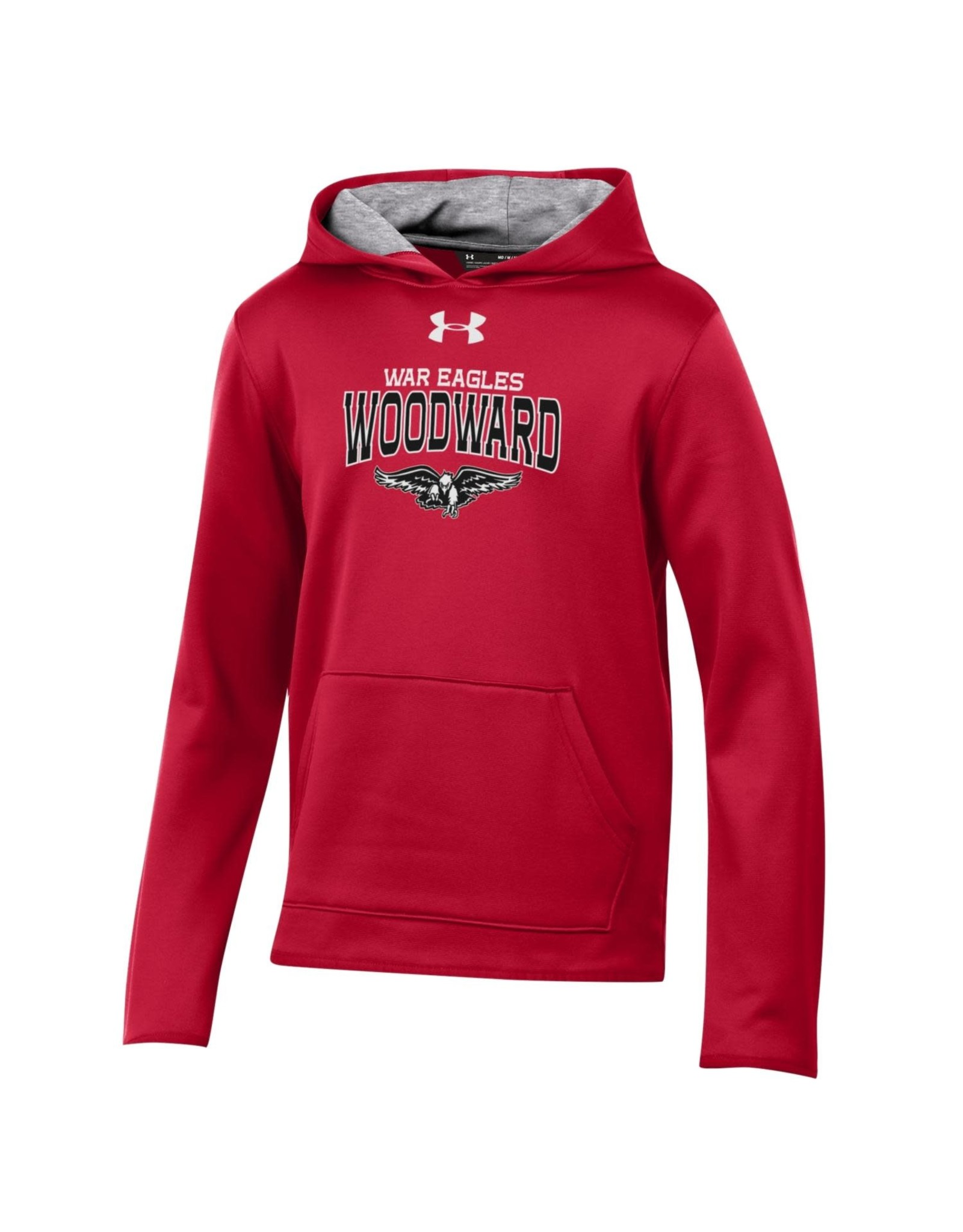 UnderArmour Youth Fleece Lined Hooded Sweatshirt in Red by UnderArmour