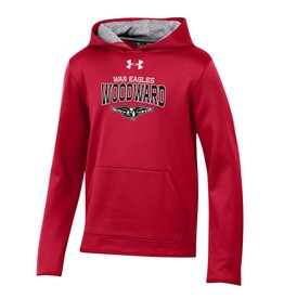 UnderArmour Youth Fleece Lined Hooded Sweatshirt (UY2242555) in Red