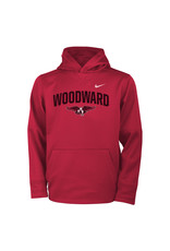 NIKE Youth Therma Hooded Sweatshirt in Red by NIKE