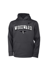 NIKE Youth Therma Hooded Sweatshirt in Anthracite by NIKE