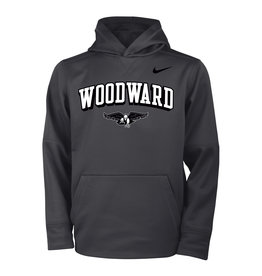 NIKE Youth Therma Hooded Sweatshirt in Anthracite