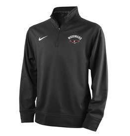 NIKE Youth Therma 1/4 Zip Pullover in Black